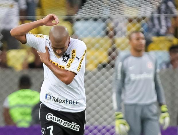 Emerson Sheik comemora, Botafogo x Internacional (Foto: Ide Gomes/Agência Estado)