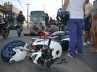 Menino fica ferido após ter bicicleta atingida por moto em João Pessoa