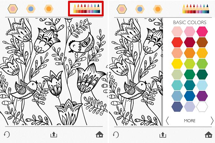 Escolhendo as cores para usar no desenho (Foto: Felipe Alencar/TechTudo)