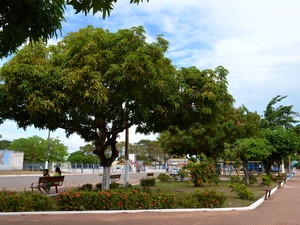 As praças da Cohab (foto), Barão de Santarém e Tiradentes são uma das poucas que são bem arborizadas (Foto: Paola Dutra/G1)