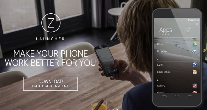 Z Launcher está disponível em fase beta (Foto: Reprodução/Nokia)