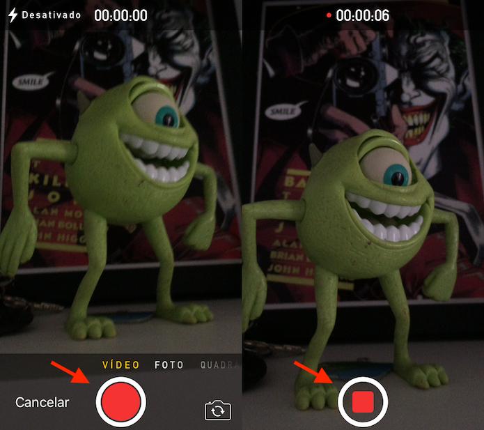 Tela de gravação de vídeo do Telegram (Foto: Reprodução/Marvin Costa)