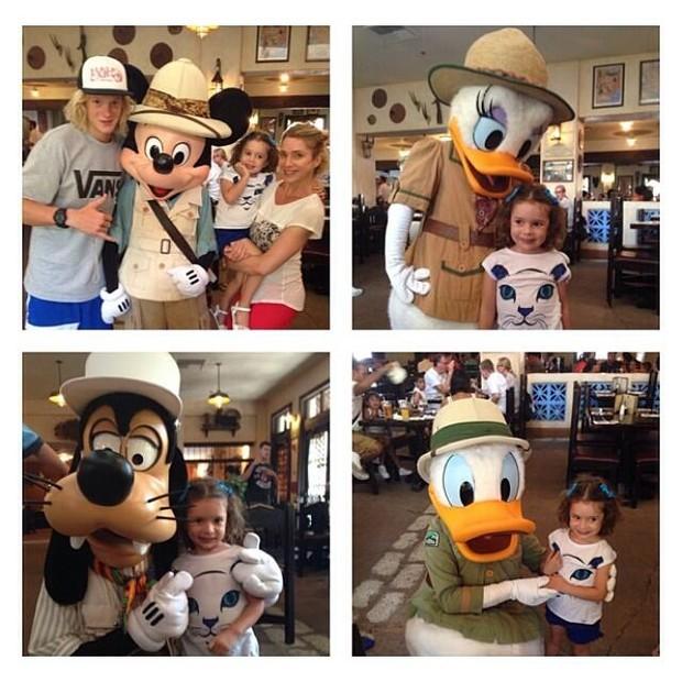 Letícia Spiller e os filhos na Disney (Foto: Reprodução/Instagram)