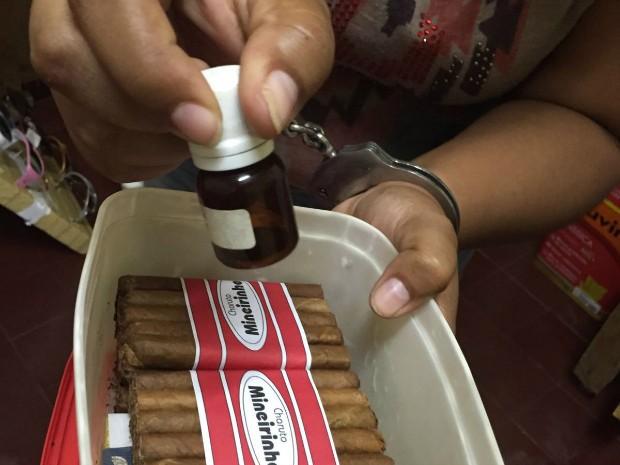 Churuto era usado para queimar criança, segundo a polícia (Foto: Divulgação/ Polícia Civil de MS)