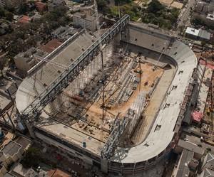 Obras na Arena da Baixada (Foto: Divulgação/ Lucas Costa)