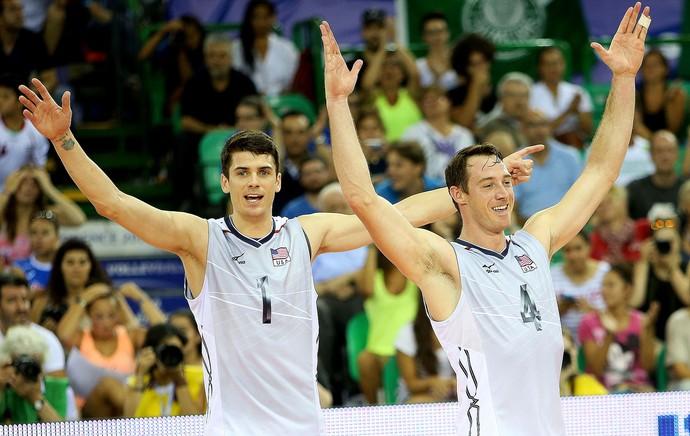 vôlei Anderson e David Lee EUA e Irã Liga mundial (Foto: FIVB)