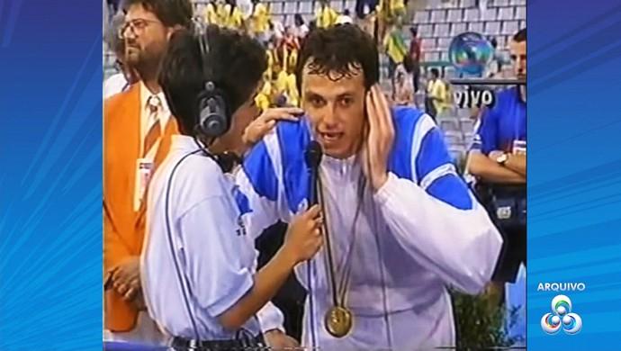 Carlão, campeão olímpico em Barcelona, em 1992 (Foto: Reprodução/Rede Amazônica Acre)