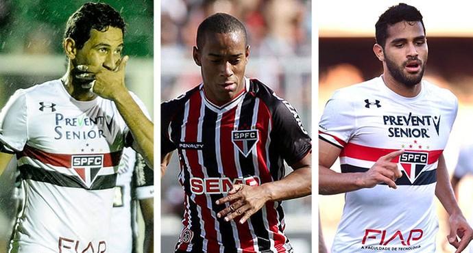 Venda de trio renderá R$ 22 milhões ao São Paulo em 2017