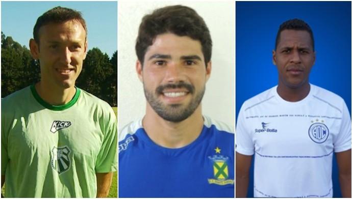 Tiago Bernardi, Tiago Ulisses e Carlinhos serão apresentados na segunda-feira (Foto: Reprodução EPTV/ Divulgação Santo André / Divulgação AD Confiança)