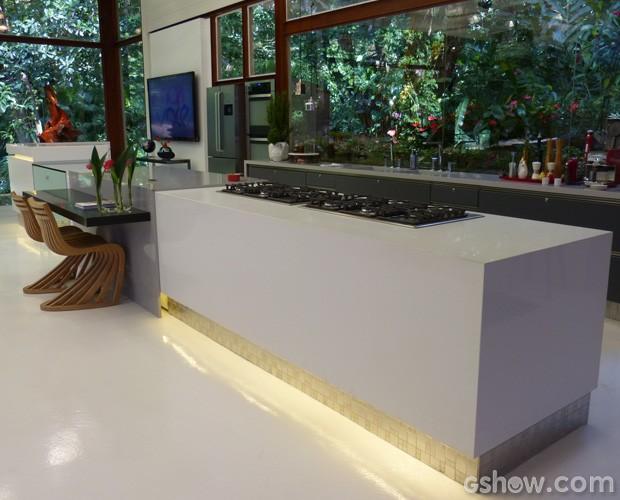 A cozinha e seu visual clean (Foto: Mais Você/TV Globo)