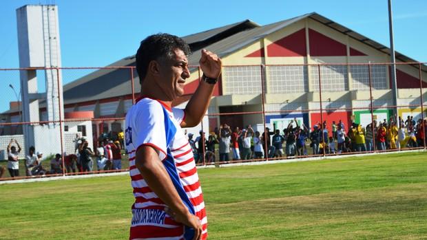 Quintino Barbosa comandou a goleada do Itabaiana em cima do Socorrense (Foto: Felipe Martins/GLOBOESPORTE.COM)