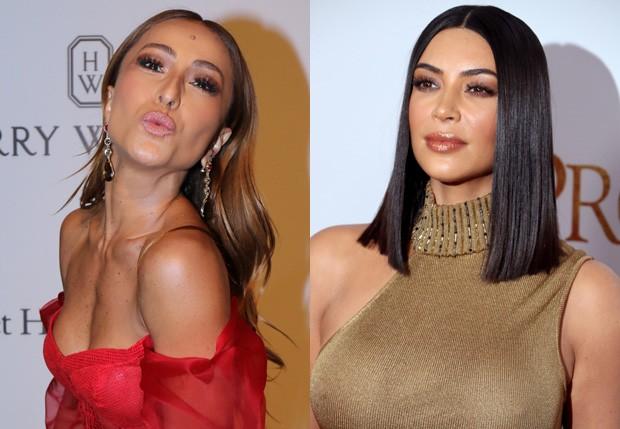 Sabrina Sato e Kim Kardashian (Foto: Thiago Duran/Agnews e Getty Images)