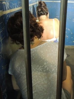 Vilma Martins e Sônia Eliene Silva, presas em Goiânia (Foto: Gabriela Lima/G1)