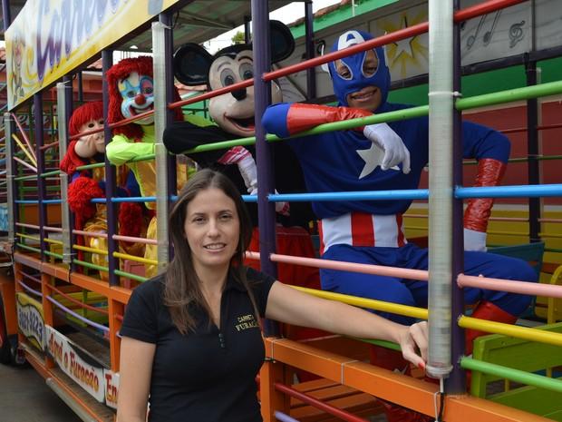 Fabiana Cardoni, dona da Carreta Furacão, em Ribeirão Preto, SP (Foto: Felipe Turioni/G1)