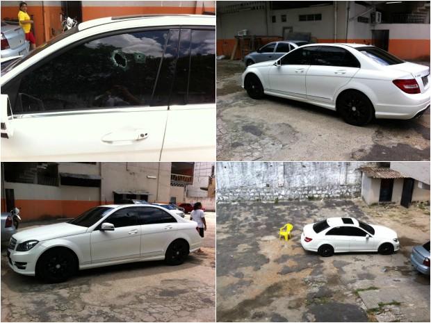 Vítima foi baleada no estacionamento da academia (Foto: Suelen Gonçalves/G1 AM)