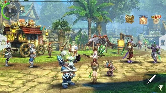 Order & Chaos 2: Redemption é um dos MMORPGs mais completos para iPhone e iPad (Foto: Divulgação / Gameloft)