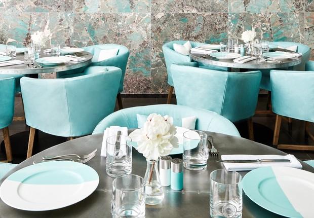 O café Blue Box foi inaugurado dentro da joalheria Tiffany´s em Nova York: como a personagem no livro e no filme, agora turistas podem tomar café da manhã (Foto: Tiffany & Co)