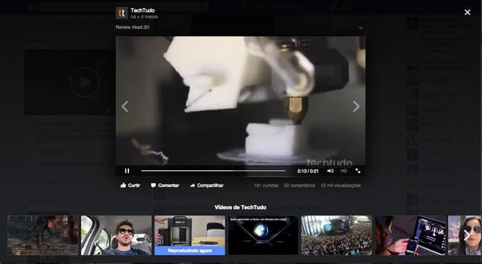 Opções para alternar entre os vídeos (Foto: Reprodução/André Sugai)