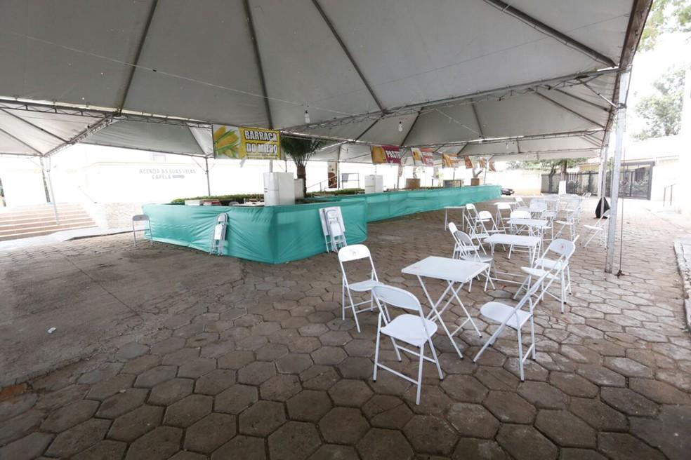 Celebrações e praça de alimentação fazem parte da programação (Foto: Pascom/Santuário de Santo Expedito/Divulgação)