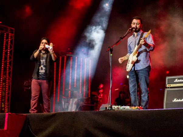 Jorge e Mateus no Planeta Atlntida (Foto: Andr Bittencourt)
