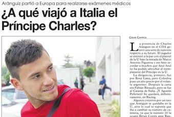 Charles Aranguíz confirma a jornal chileno que jogará no Inter em 2014 (Foto: Reprodução)