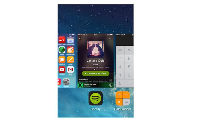 Fechando o Spotify no iOS (Foto: Reprodução/Marvin Costa)
