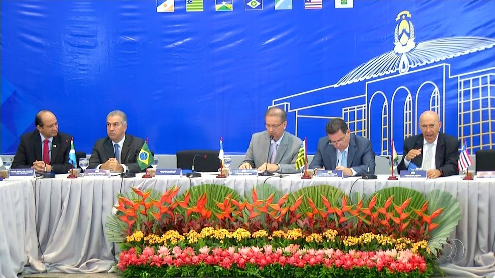 Encontro de governadores foi realizado no Tocantins (Foto: TV Anhanguera/Reprodução)