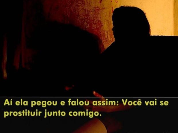 Menor disse que teve de se prostituir para ficar na casa (Foto: Reprodução/ TV TEM)