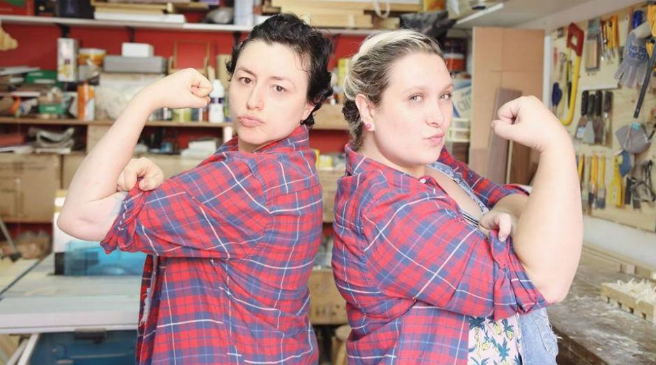 Letícia Piagentini e Fernanda Amaral proprietárias da Lumberjills (Foto: Divulgação)