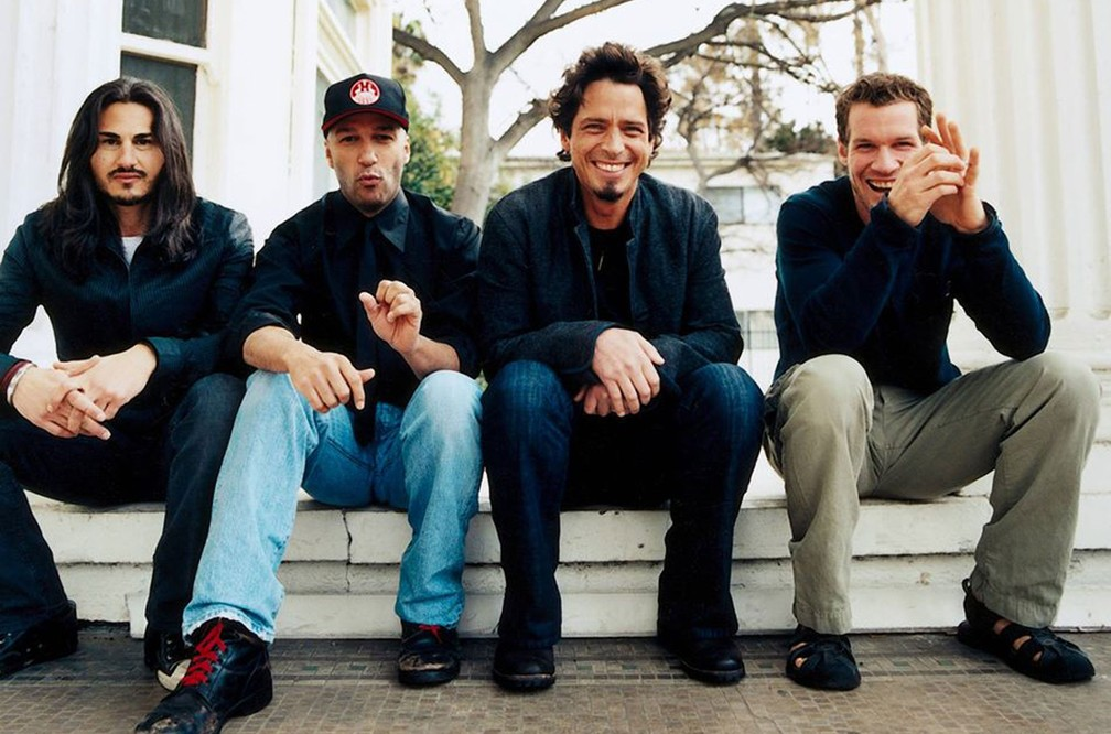Os integrantes do 'supergrupo' Audioslave; a partir da esquerda: Brad Wilk, Tom Morello, Chris Cornell e Tim Commerford  (Foto: Divulgação)