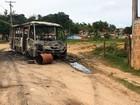 Após fogo em ônibus, grupo incendeia van (Reprodução/TV Bahia)
