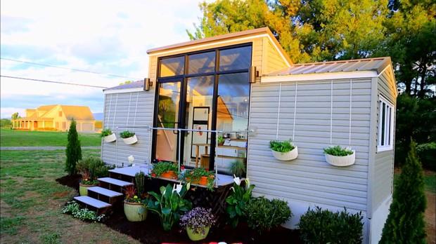 Minicasas, tiny house, ep 2, Minicasa de 16m tem quarto de criana, quarto com   privacidade para os pais e uma cozinha completa.   Veja o projeto (Foto: Divulgao/GNT)