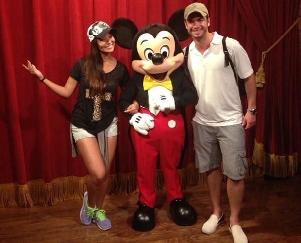 Nakamura e Sidney passaram 4 dias juntos na Disney (Foto: Arquivo Pessoal)