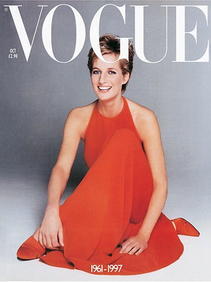 Lady Di, amiga pessoal de Anna Harvey, na Vogue britânica (Foto: Divulgação)