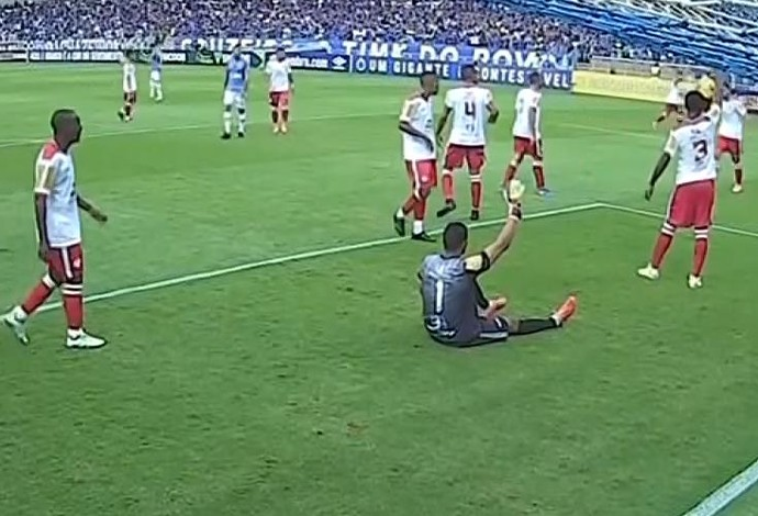 Darley Tombense goleiro Cruzeiro Mineirão Alberto Roberto (Foto: Reprodução/Globo Minas)