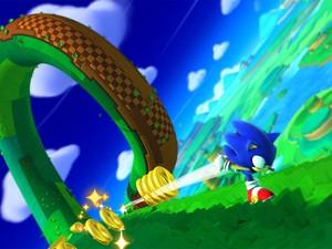 Sonic usa sua velocidade em cena do game 'Sonic Lost Worlds' (Foto: Divulgação/Sega)