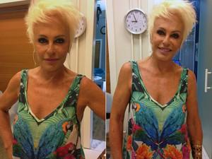 Ana Maria volta das férias com novo visual (Foto: TV Globo)
