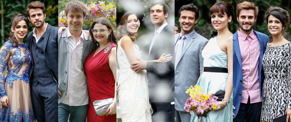 Casais apaixonados são 'felizes para sempre' (Raphael Dias/ Gshow)