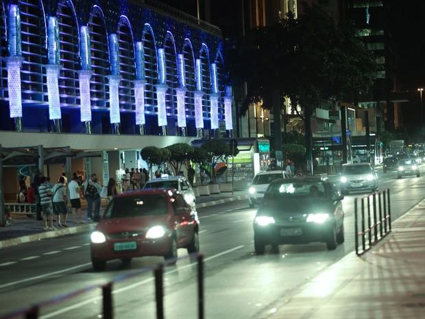 14/12/2015: Decoração de Natal no Conjunto Nacional, na Avenida Paulista (Foto: Caio Kenji/G1)