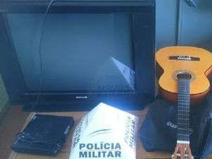 Assalto em Cras de Camacho (Foto: Polícia Militar/Divulgação)