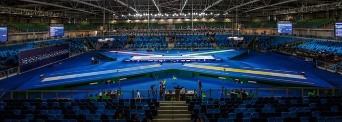 Evento-teste esgrima Arena Carioca 3 (Foto: Gabriel Heusi/Heusi Action.)