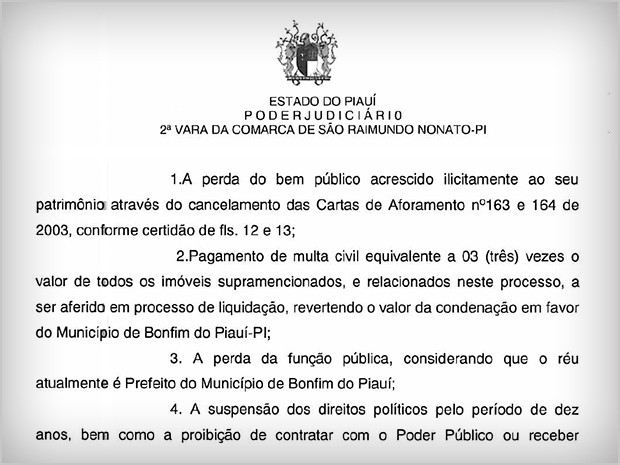 Decisão TJ - Paulo Henrique (Foto: Tribunal de Justiça do Piauí)