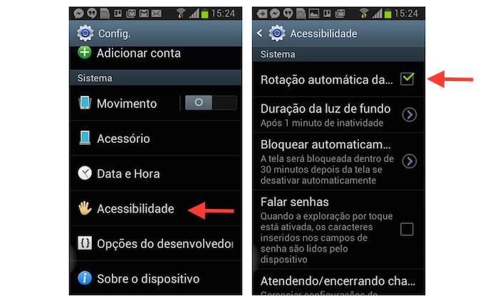 Desativando a rotação da tela de um dispositivo Android (Foto: Reprodução/Marvin Costa)