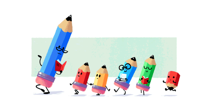 Dia Do Professor E Celebrado Com Doodle Do Google Em Forma De Lapis Noticias Techtudo