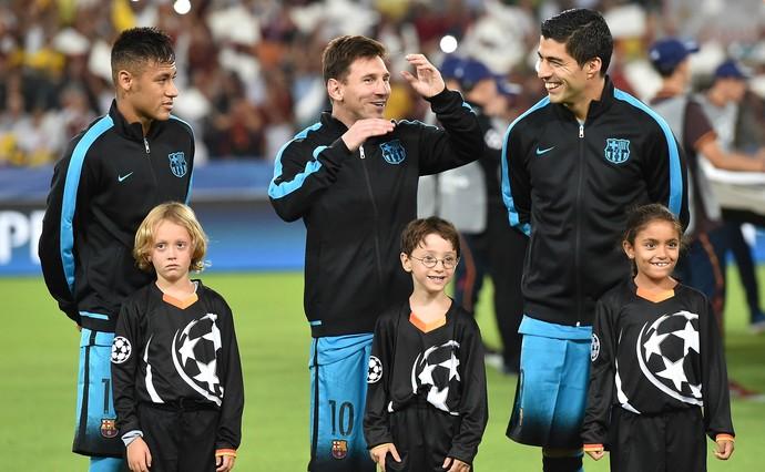 Neymar Messi Suárez Barcelona Roma (Foto: Getty Images)