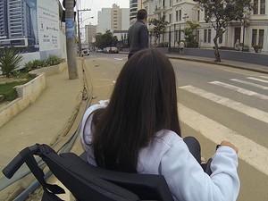 Dificuldade Cadeirantes Juiz de Fora (Foto: Reprodução/TV Integração)