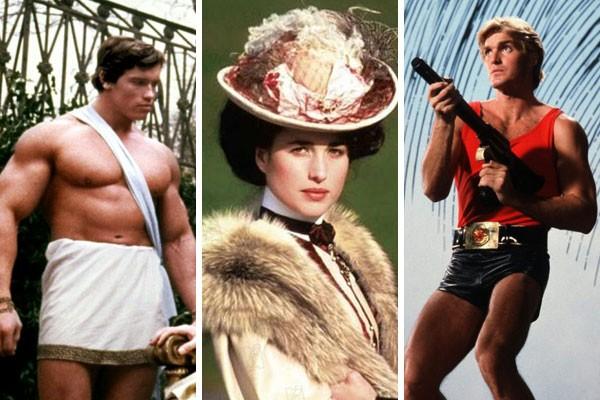 Arnold Schwarzenegger , Andie MacDowell e Sam J. Jones foram alguns dos atores que tiveram as vozes dubladas na própria língua  (Foto: Divulgação)