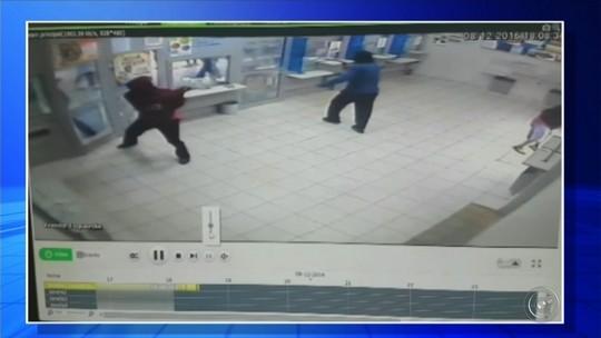 Imagens mostram grupo em tentativa de furto a lotérica em Cerqueira César