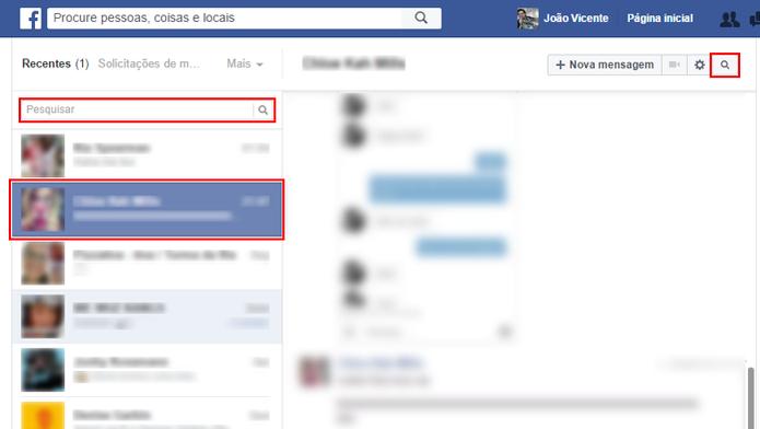 Facebook permite encontrar histórico de conversas com contatos (Foto: Reprodução/Facebook) (Foto: Facebook permite encontrar histórico de conversas com contatos (Foto: Reprodução/Facebook))