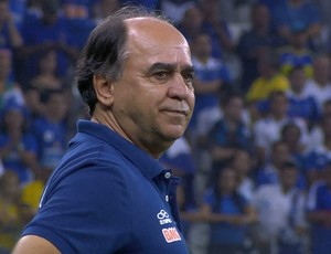 Marcelo Oliveira comandou o Cruzeiro na vitória contra o Santa Rita-AL pela Copa do Brasil (Foto: Reprodução/Sportv)